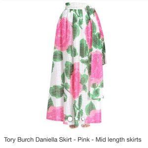 Tory Burch Daniella skirt -MaxiRosepink/greenskirt